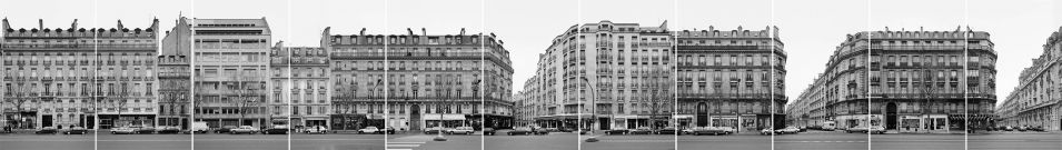 Boulevard de Courcelles, 1996, Baryt-Prints, 11 Teile/parts, je/each 47.2x30.2cm, 47.2x337.2cm